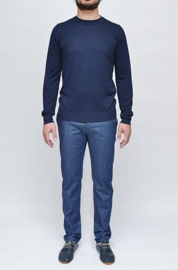 Maglia Girocollo Uomo Blu