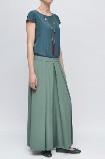 Gonna Pantalone Seta Verde Salvia
